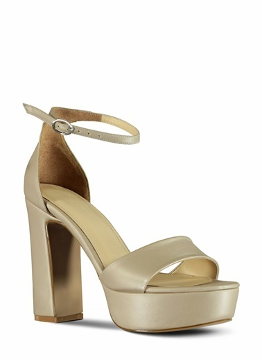 Marjin Platform Topuklu Ayakkabı Bej